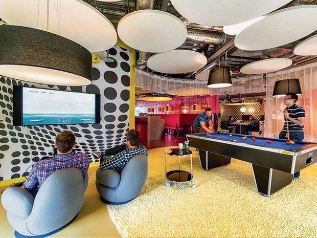 Dans les locaux de Google à Dublin. Qui n'aurait pas envie d'y travailler ?