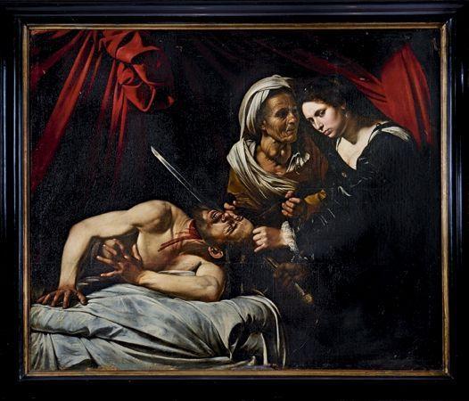 Des détails éloquents pour les experts : l'œil de Judith (à g.), qui porte des traces de doigt de l'artiste, et la main gauche d'Holopherne, modifiée par le peintre.