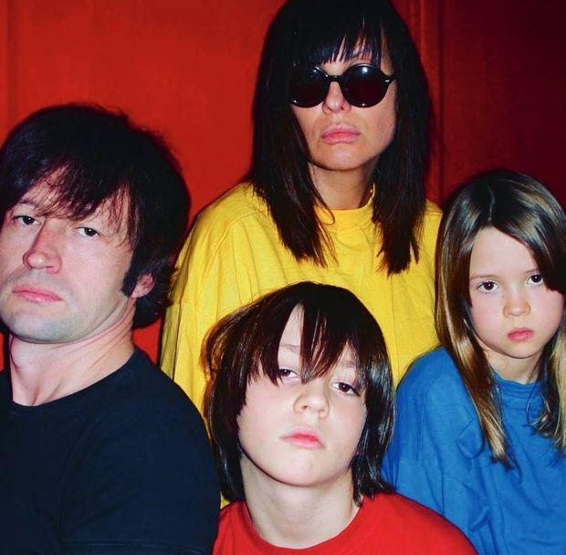 Marka, sa femme Laurence, Roméo Elvis (5 ans) et Angèle (2 ans).