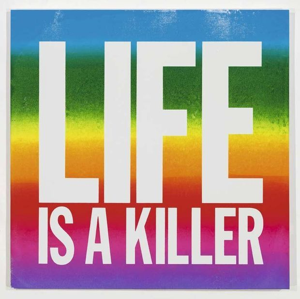"""""""Life is a killer"""", acrylique sur toile, 2015."""