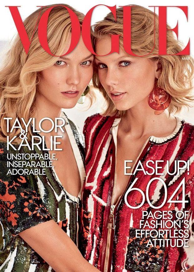 En couverture de Vogue avec la chanteuse Taylor Swift, une de ses meilleures amies.
