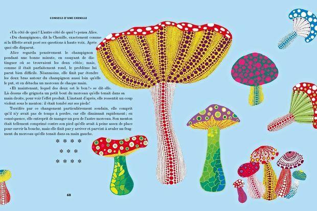 """""""Alice"""" à travers l'oeuvre de Yayoi Kusama ed. Hélium, 192 pages."""