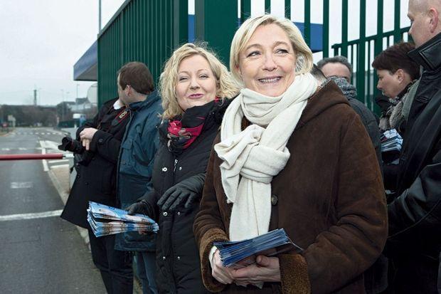Marine Le Pen, venue apporter son soutien à la frontiste Sophie Montel.