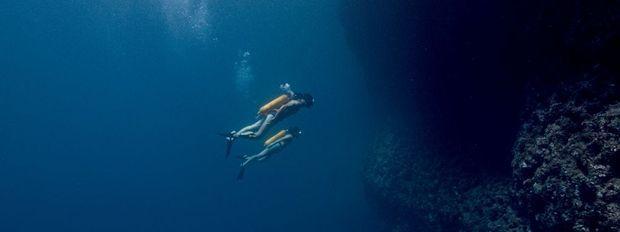 Plongée en Croatie. Sous les masques, Lambert Wilson et Audrey Tautou.