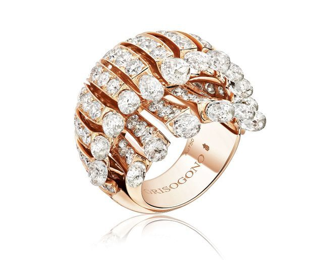 Fawaz Gruosi, patron de de Grisogono, va imaginer un bijou pour loger les impressionnants carats. Telle cette création.