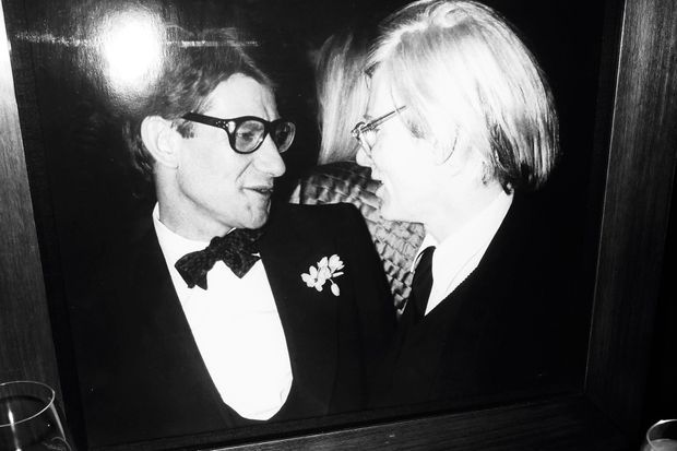 Yves Saint Laurent et Andy Warhol.