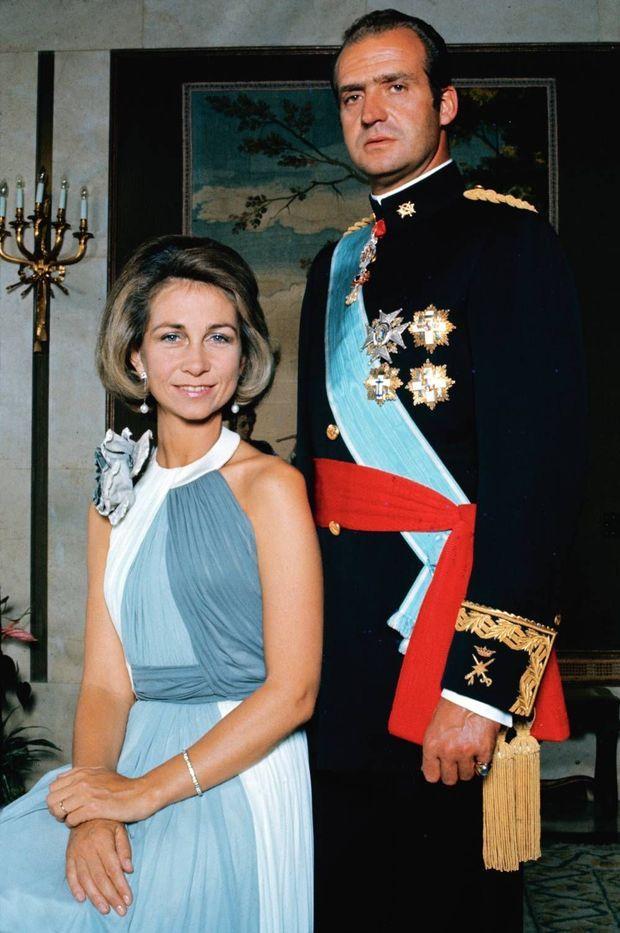 Le prince héritier Juan Carlos et la princesse Sofia en octobre 1974.