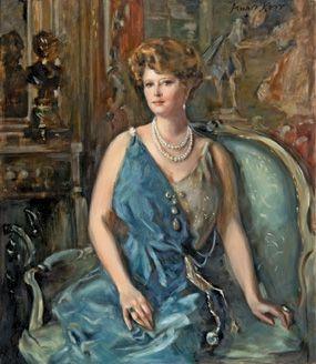 Portrait de Maisie Plant par Alphonse Jongers, reproduit par Claudia Munro Kerr.