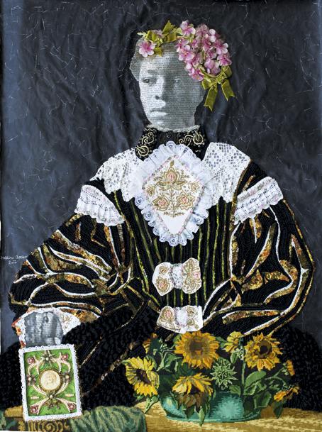 « Violet Hat », de Marion Boehm (2017), représentée par ArtCo Gallery.