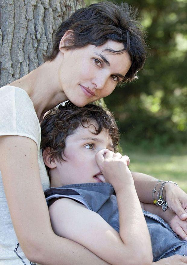 Eglantine avec son fils Samy.