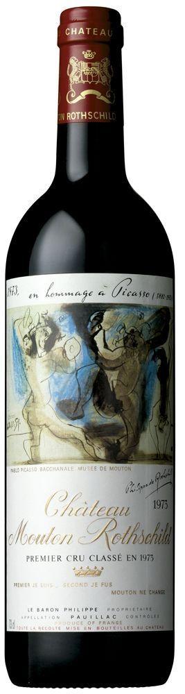 Une bouteille à l'étiquettes signée Picasso