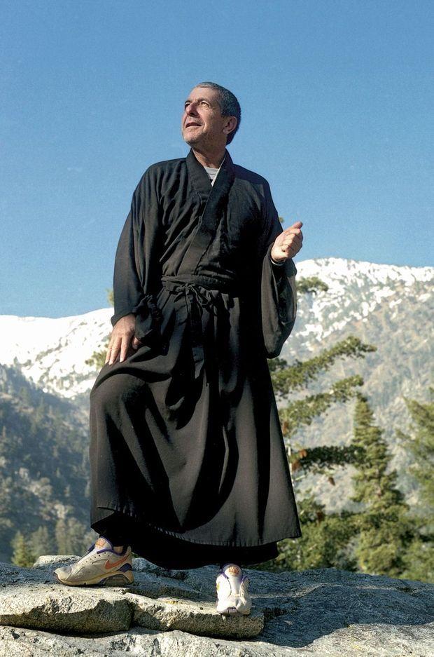 Mount Baldy, 1995. Il sera ordonné après avoir passé cinq ans dans un monastère californien.