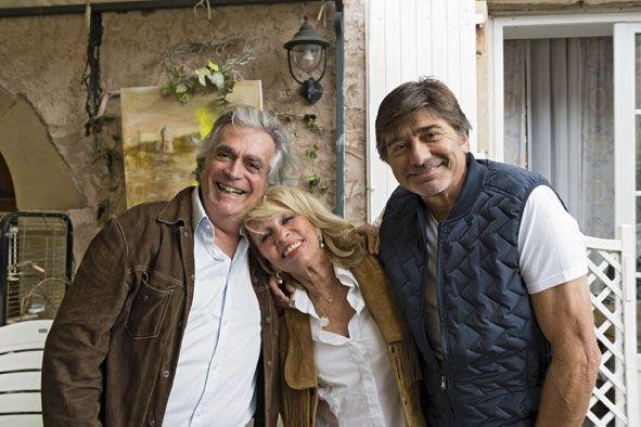 A La Gabetière, le 17 septembre, Nicole et Michel avec Roméo, leur ami fidèle depuis 30 ans.