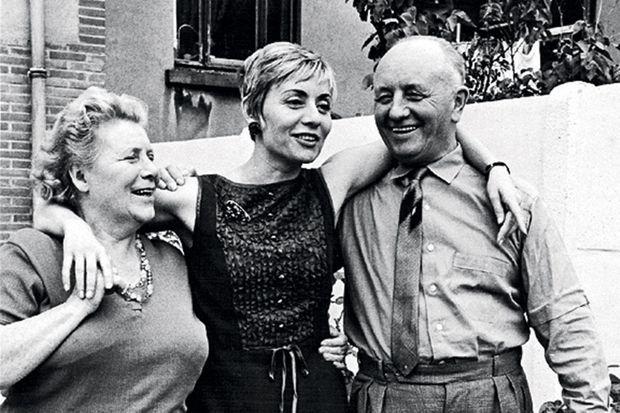 Avec Maria et Jean, ses parents, à l'occasion d'un concert en Belgique.