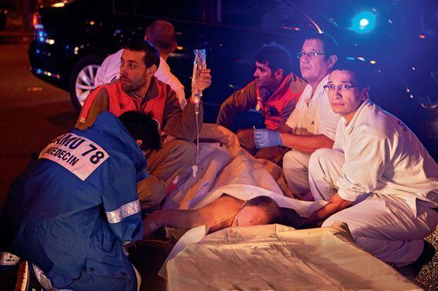 Les médecins et infirmiers du Samu sont intervenus en moins de dix minutes, pour répartir 300 blessés vers 5 hôpitaux.