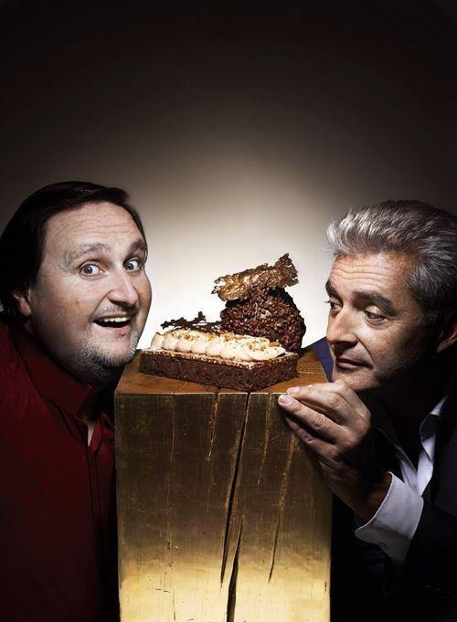 Philippe Conticini et Thierry Teyssier, créateurs de La pâtisserie des rêves, nous présentent leur dessert Marron et chocolat… Mmmmmh !