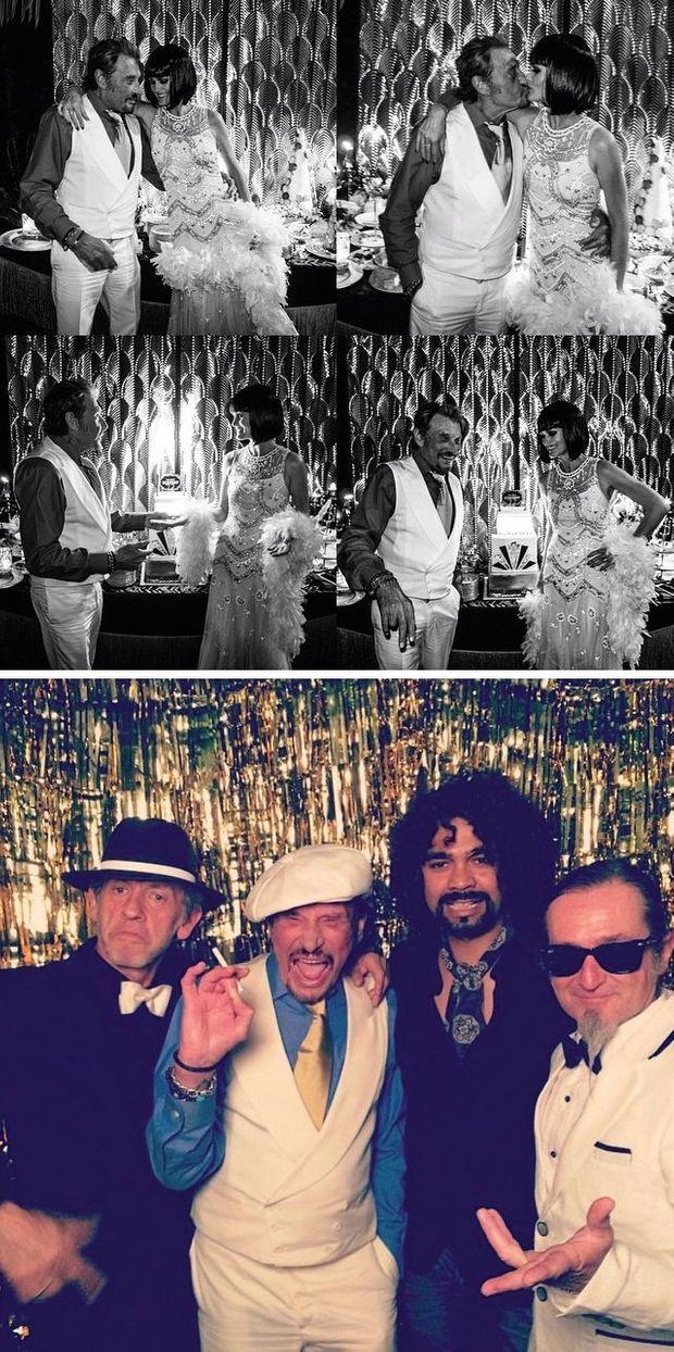 Sur Instagram, Laeticia comme Johnny publient des photos. Pour ses 72 ans, elle a organisé une fête sur le thème de « Gatsby le Magnifique ».