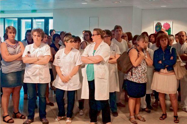 Les collègues d'Emmanuelle de la maternité du CHU Jacques-Monod, au Havre