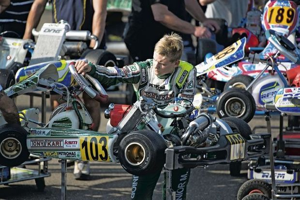 Mick au championnat allemand à Genk.