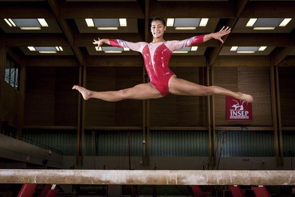 La gymnaste Marine Boyer, médaille d'argent à la poutre aux championnats d'Europe, 2016, a tout juste 16 ans.