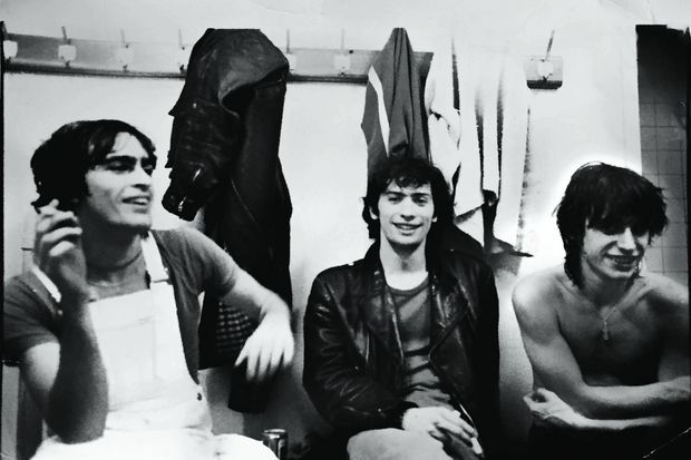 Entouré de Richard Kolinka et Jean-Louis Aubert, à leurs débuts.