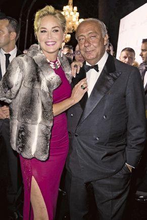 Fawaz Gruosi et Sharon Stone parée de millions lors du dernier Festival de Cannes.