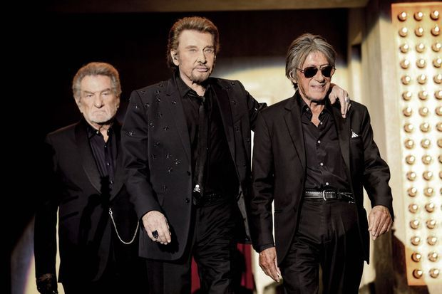 Eddy Mitchell, Johnny Hallyday, Jacques Dutronc