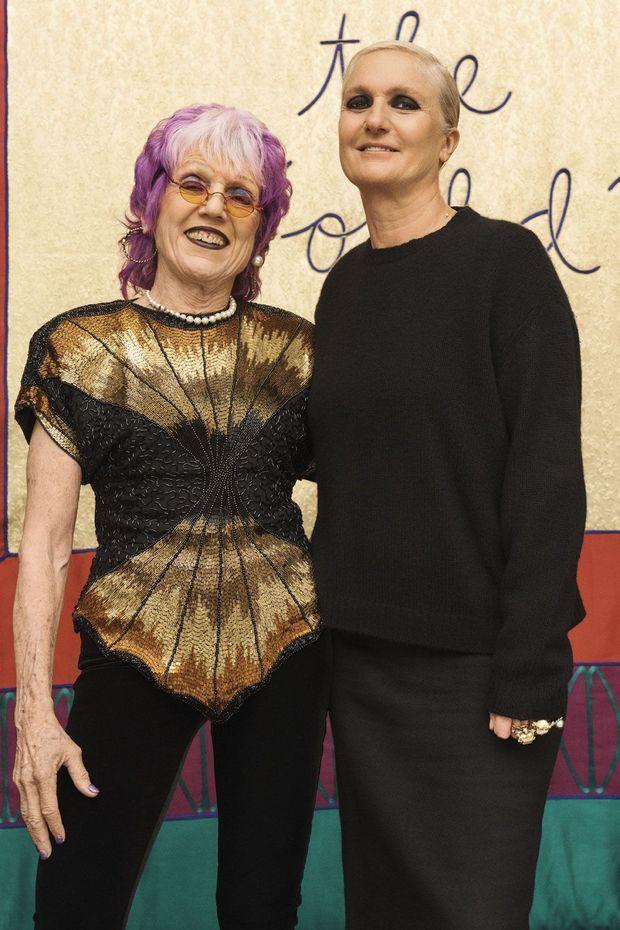 Judy Chicago et Maria Grazia Chiuri.
