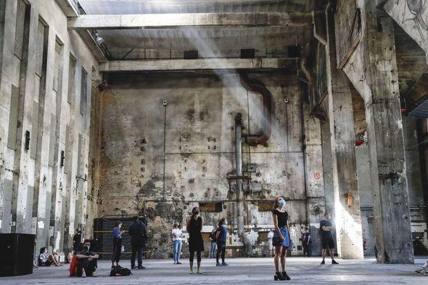 Installation sonore dans l'enceinte du Berghain. Le mythique club a dû se reconvertir.