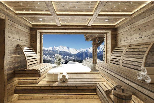 Le sauna et sa vue époustouflante.