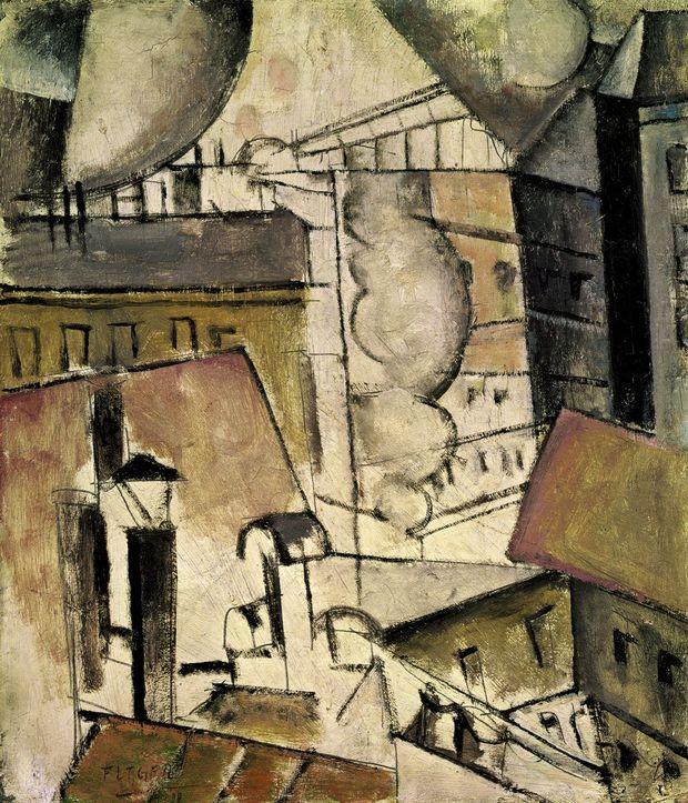 """""""Fumées sur les toits"""", de Fernand Léger, 1911."""