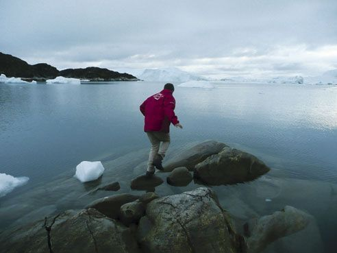 2012/2019. Tristan et Madenn, près du glacier Sermeq Kujalleq, là où se forment les plus gros icebergs de l'hémisphère Nord.