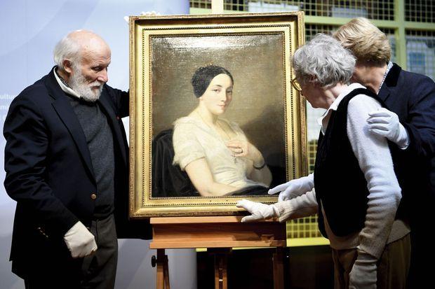 Ce « Portrait de jeune femme assise » du peintre Thomas Couture fait partie des six œuvres qui ont pu être restituées aux héritiers de leurs propriétaires