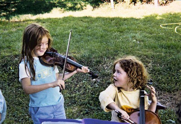Premier concert… pour la famille : quand Julie a 6 ans.