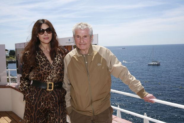 Monica Bellucci et Claude Lelouch.