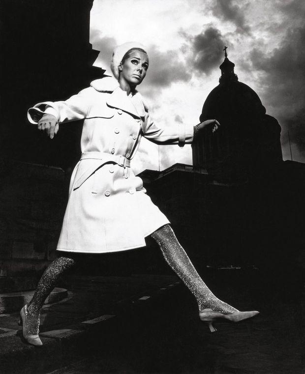 Karin Mossberg, Paris 1966 (Coat by Nina Ricci )