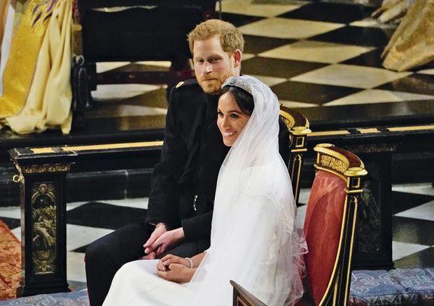 Cérémonie de mariage du duc et de la duchesse de Sussex à la chapelle Saint-Georges à Windsor.