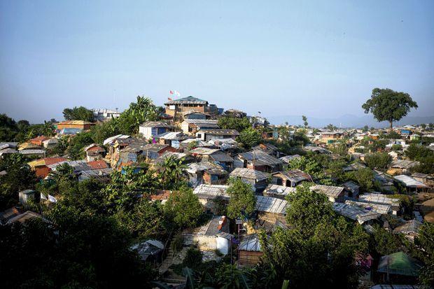 Installé sur une colline dans la région de Cox-Bazar, le camp de Kutupalong.