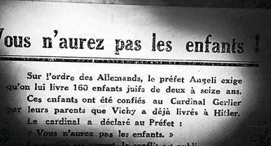 Octobre 1942 : tract des mouvements de résistance (archives départementales de la Savoie).