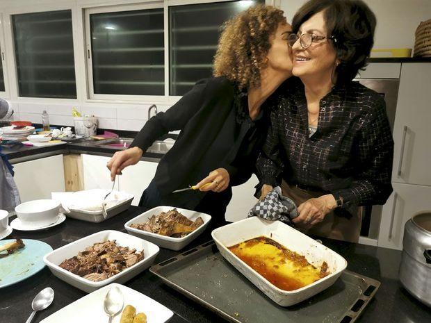 Chez sa mère, Béatrice, qui vit toujours à Rabat, le 18 février.
