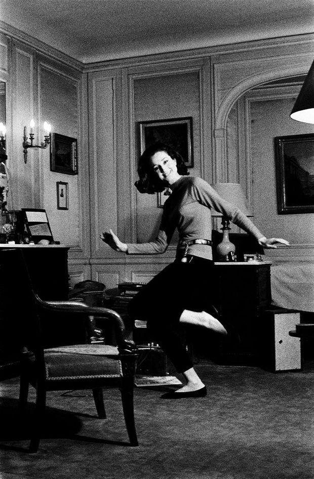 Jeune aristo « twisteuse », en 1962.