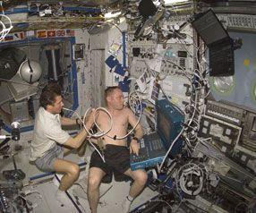 Tests réalisés in situ à bord de l'ISS.