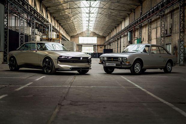 Inspiré par son aïeul, le coupé 504, né en 1969, le prototype en reprend la ligne tricorps, la calandre quatre phares et le logo Peugeot historique.