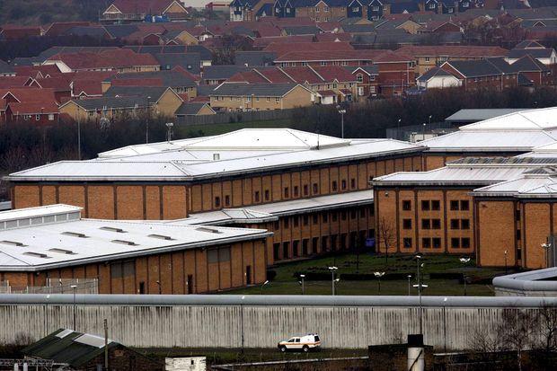 La prison à haute sécurité de Belmarsh, dans l'est de Londres. Assange y est soumis à l'isolement.