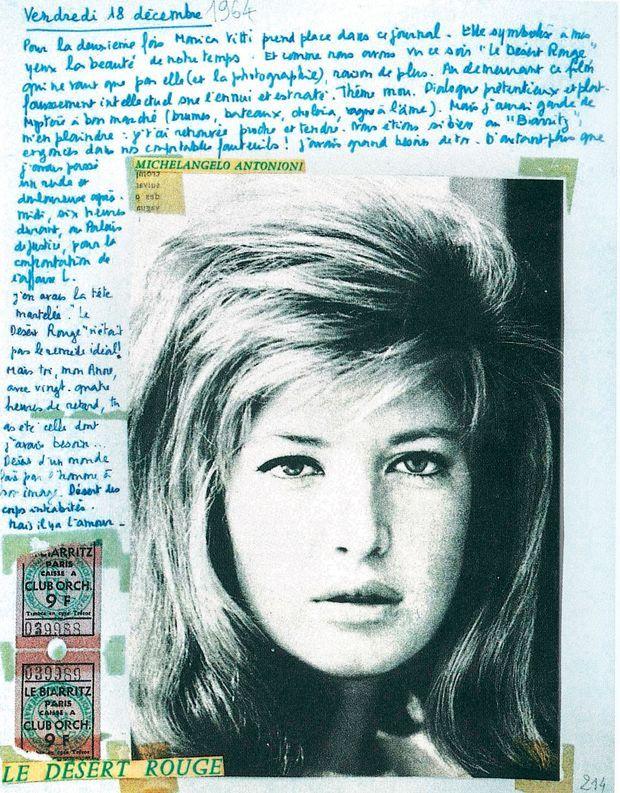 Vendredi 18 décembre 1964 « Pour la deuxième fois Monica Vitti prend place dans ce journal. Elle symbolise à mes yeux la beauté de notre temps. »