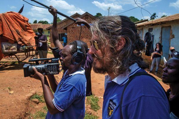 En plein tournage avec Alan en super-assistant.