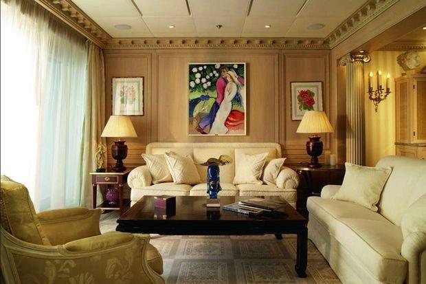 Un salon d'un appartement