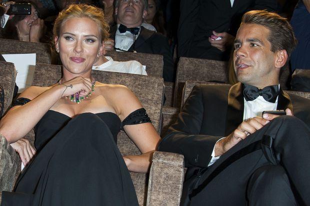Scarlett Johansson et Romain Dauriac à Venise, en septembre dernier.