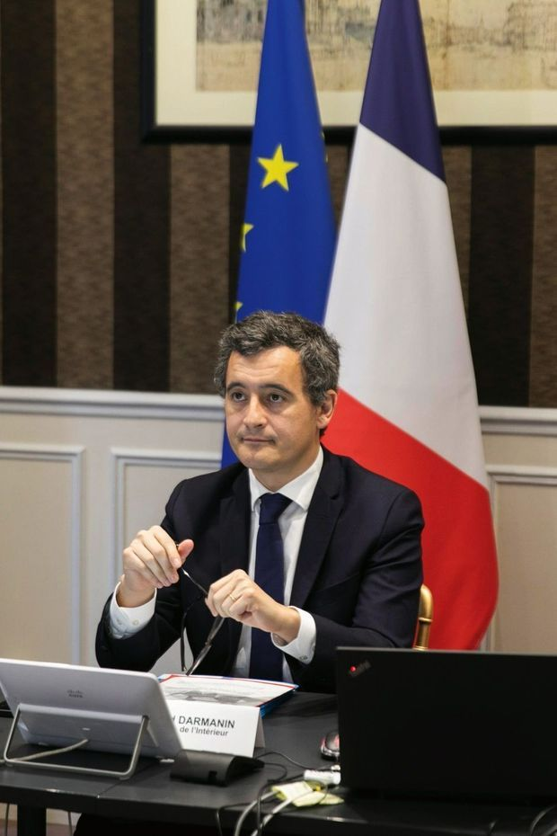 Réunion sur la réforme de Schengen en visioconférence. L'immigration est l'autre lourd dossier du ministre.