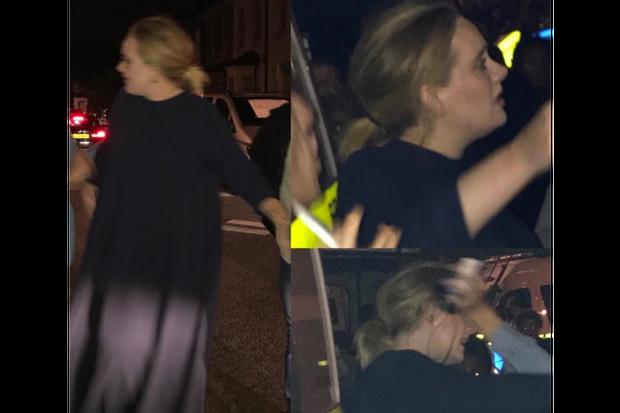 Adele lors de la veillée pour soutenir les victimes, à Londres, le 14 juin 2017.